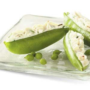 Cream Cheese-Stuffed Pea Pods Recipe