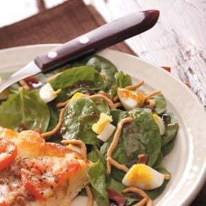 Tangy Spinach Salad Recipe