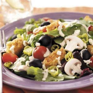Greek Chicken Tossed Salad Recipe