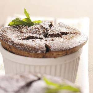 Chocolate Mint Souffles