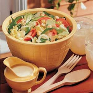 Salad with Creamy Dressing Recipe