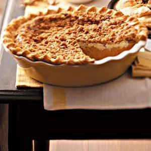 Walnut-Streusel Pumpkin Pie Recipe | Taste of Home