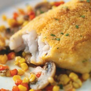 Cornmeal crusted walleye recipe taste of home for Walleye fish recipes