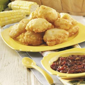 Corn Fritters with Caramelized Onion Jam Recipe
