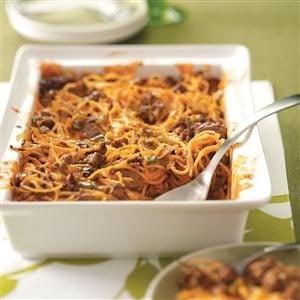 Spaghetti Beef Casserole Recipe