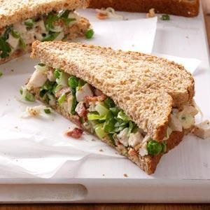 Turkey Salad on Wheat Bread Recipe