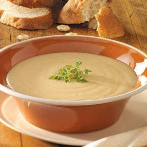 Roasted Garlic Potato Soup Recipe photo by Taste of Home