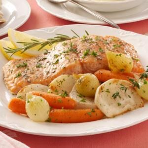 Garlic-Butter Baked Salmon Recipe