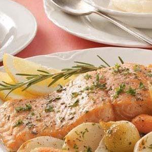 Garlic-Butter Baked Salmon Recipe   Taste of Home