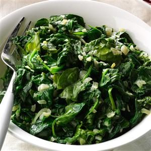 Creamed Spinach with Parmesan