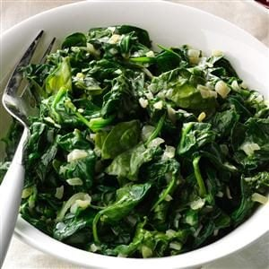 Creamed Spinach with Parmesan Recipe