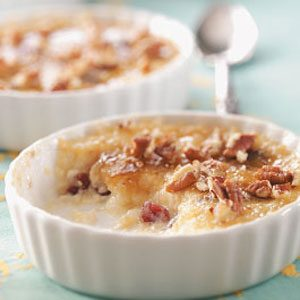 Lemon Rice Pudding Brulee Recipe