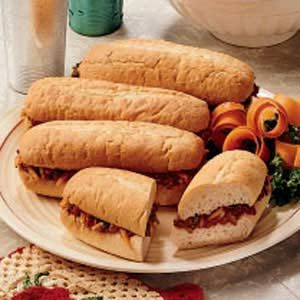 Deviled Corned Beef Buns Recipe