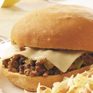 Cheese-Topped Sloppy Joes