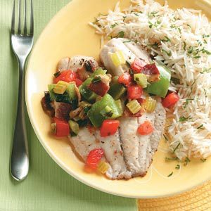 Confetti Tilapia Packets Recipe