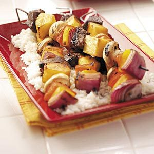 Pineapple Beef Kabobs Recipe