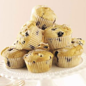 Nutmeg Blueberry Muffins Recipe