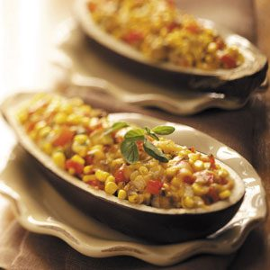 Vegetable-Stuffed Eggplant