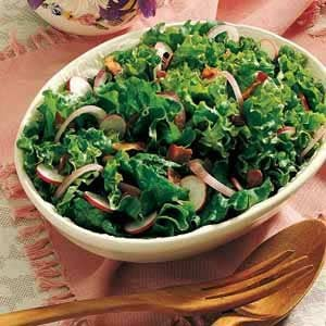 Wilted Leaf Lettuce Salad Recipe photo by Taste of Home