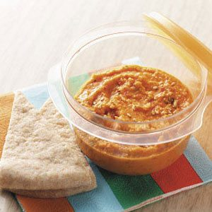 Easy Roasted Red Pepper Hummus