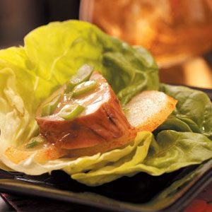 Pork 'n' Pear Lettuce Wraps Recipe