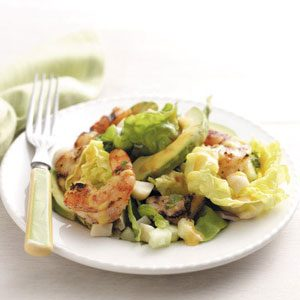 Shrimp 'n' Scallops Tropical Salad Recipe