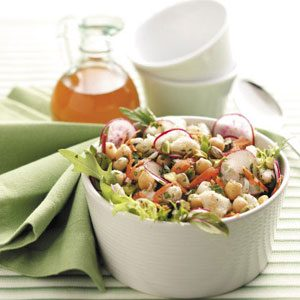 Chickpea Crab Salad with Citrus Vinaigrette Recipe