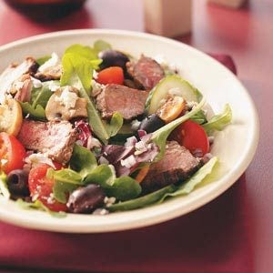 Greek Islands Steak Salad Recipe