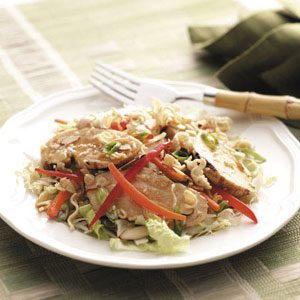Ramen-Veggie Chicken Salad