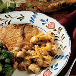Pork Chops with Stuffing Recipe
