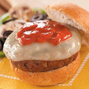 Supreme Pizza Burgers Recipe | Taste of Home