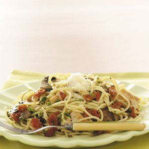 Makeover Garlic Chicken Spaghetti Recipe