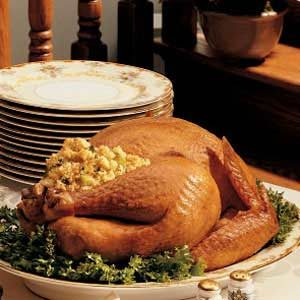 Roasted Turkey with Corn-Bread Dressing