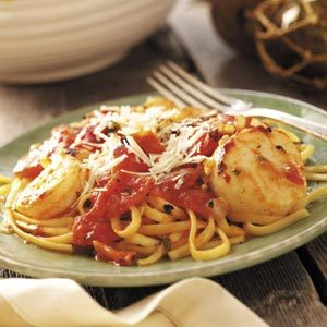 Seafood Medley with Linguine Recipe