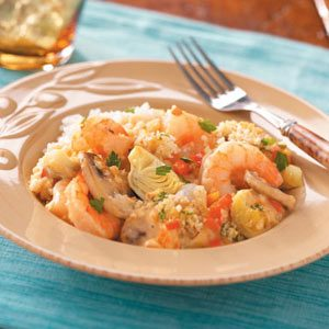 Artichoke Shrimp Bake Recipe