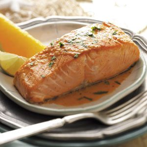 Salmon with Orange Vinaigrette Recipe
