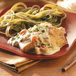 Grouper with Crabmeat Sauce Recipe
