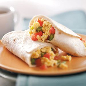 Scrambled Egg Wraps