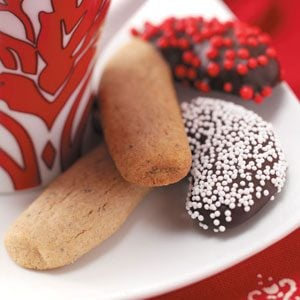 Chocolate-Coated Candy Canes Recipe