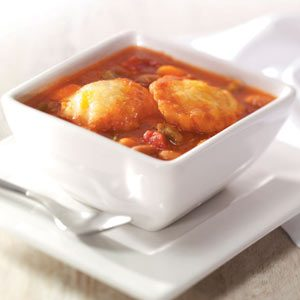 Bean Soup with Cheddar Cornmeal Dumplings Recipe
