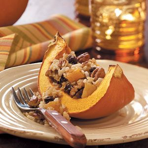 Scented Rice in Baked Pumpkin Recipe
