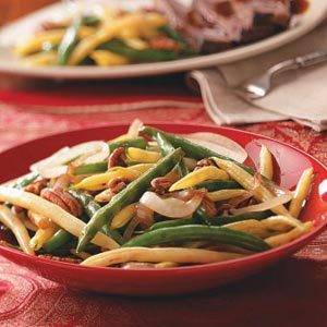 Stir-Fried Beans with Pecans Recipe