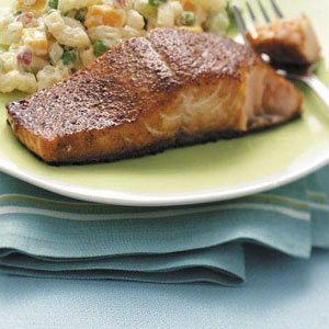 Grilled Curried Salmon Recipe