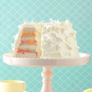 Rainbow Sherbet Angel Food Cake Recipe