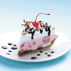Frozen Banana Split Pie Recipe