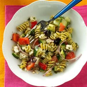 Spring Greek Pasta Salad Recipe