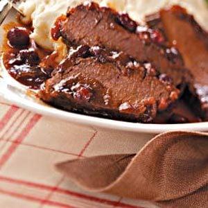 Cranberry Brisket with Horseradish Mashed Potatoes Recipe
