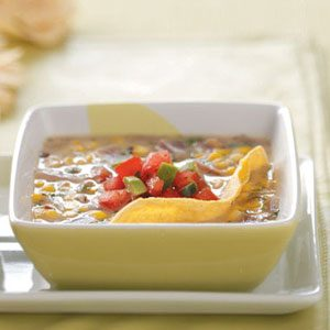 Corn Soup with Pico de Gallo Recipe
