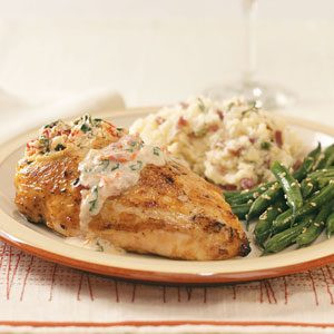 Tomato-Cream Stuffed Chicken Recipe