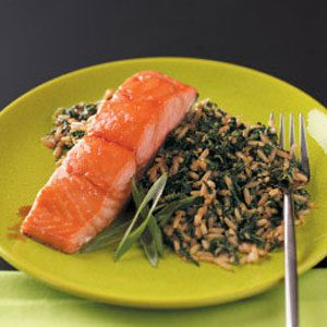 Teriyaki Salmon with Sesame Ginger Rice Recipe